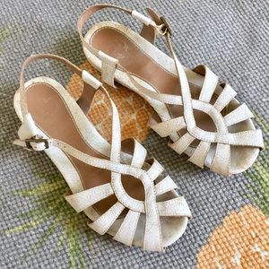Lucky Penny Anthropologie White Leather Sandals 7